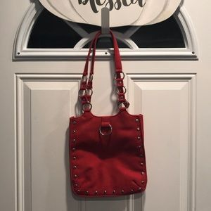 Studded Red Suede purse -Soul by Curve